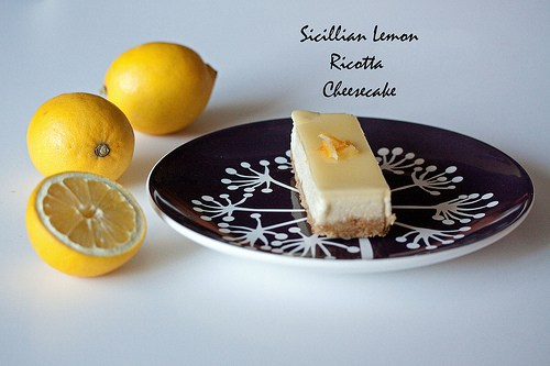Sicillian Lemon Ricotta Cheesecake