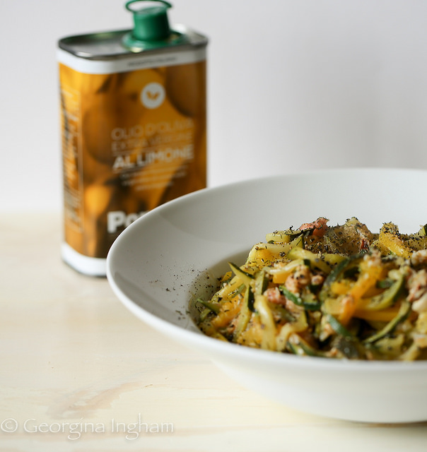 Courgetti with Crab & Brown Shrimp