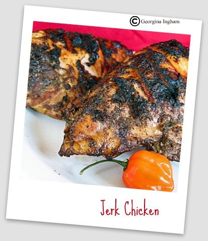 Jerk Chicken & Baked Sweet Potato Fries