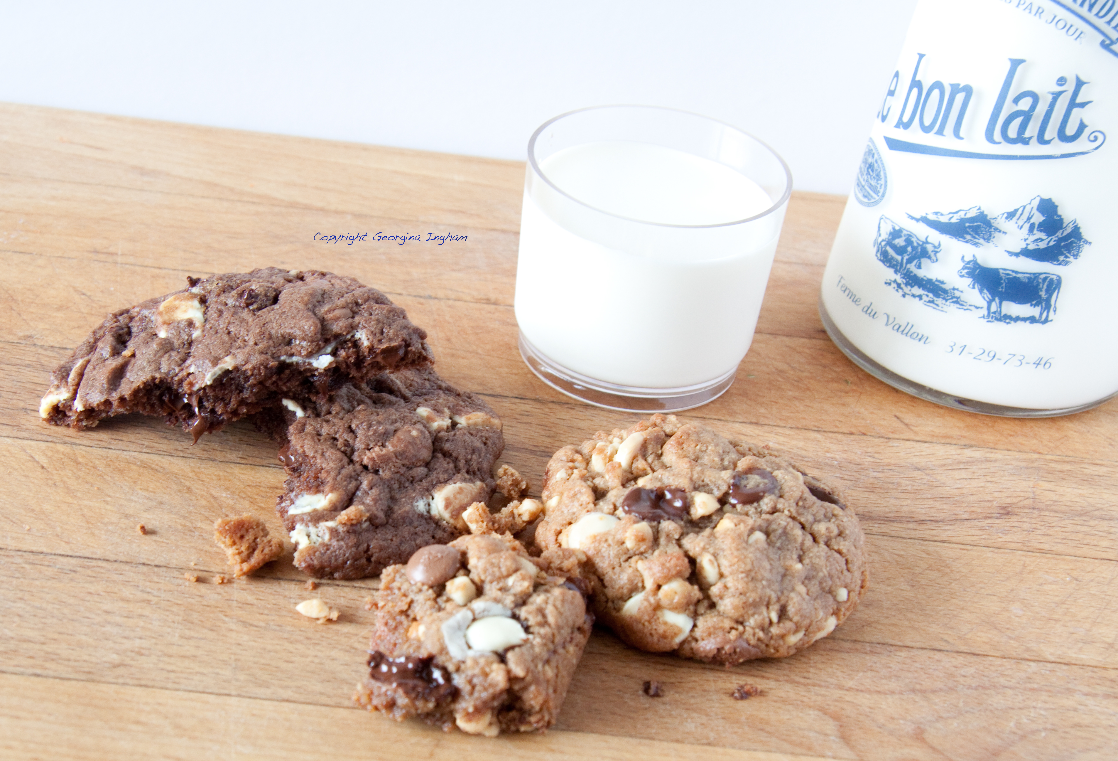 Triple Chocolate Buckwheat Cookies & Flourless Peanut Butter Chocolate Chip Cookies