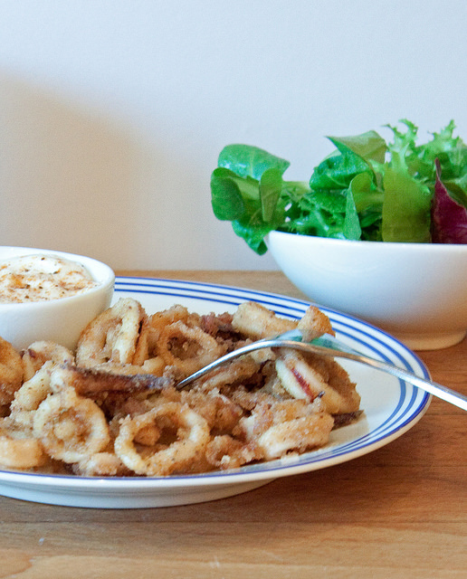 Old Bay Fried Squid with Smokey Aioli